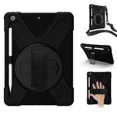 Rugged case for iPad 10.2  (7th gen)  hand & shoulder strap, kick stand and glass screen protector